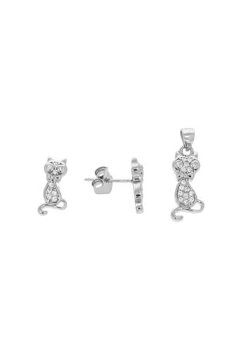 10005913 Komplet srebrny pr.925 z cyrkoniami