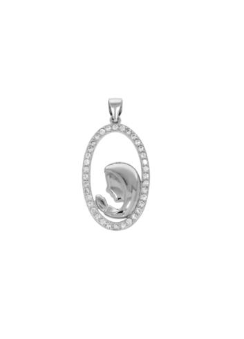 10006373 Wisiorek srebrny pr.925 z cyrkoniami
