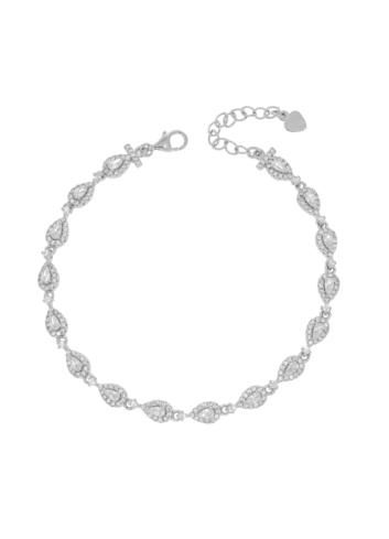 10008421 Bransoletka srebrna pr.925 z cyrkoniami