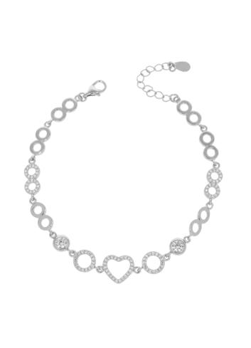 10008330 Bransoletka srebrna pr.925 z cyrkoniami