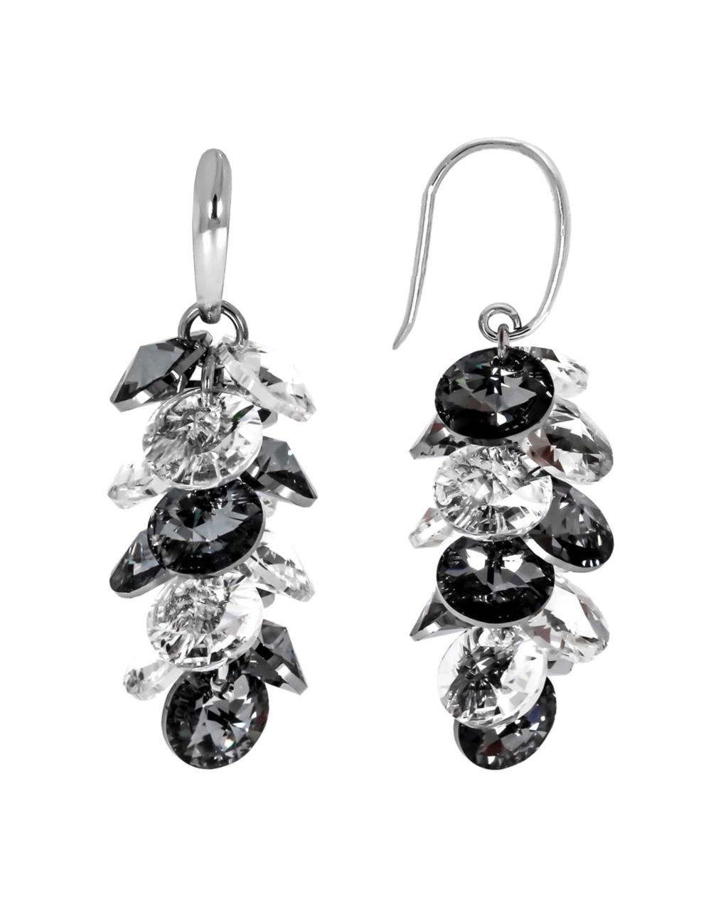 10009098 Kolczyki srebrne pr.925 z kryształami