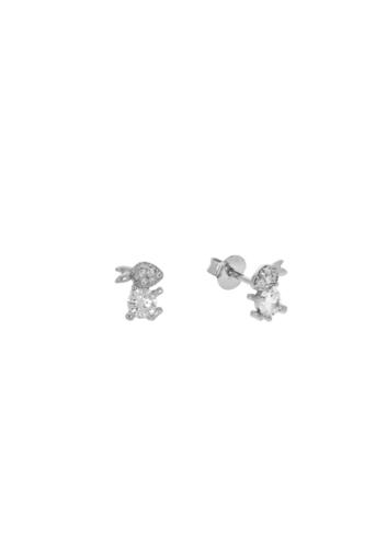 10010449 Kolczyki srebrne pr.925 z cyrkoniami