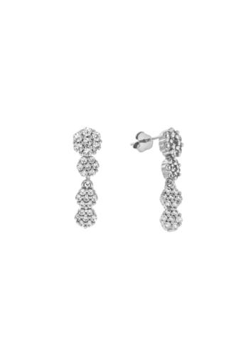 10010228 Kolczyki srebrne pr.925 z cyrkoniami