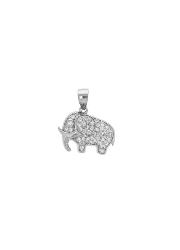 10008285 Wisiorek srebrny pr.925 z cyrkoniami