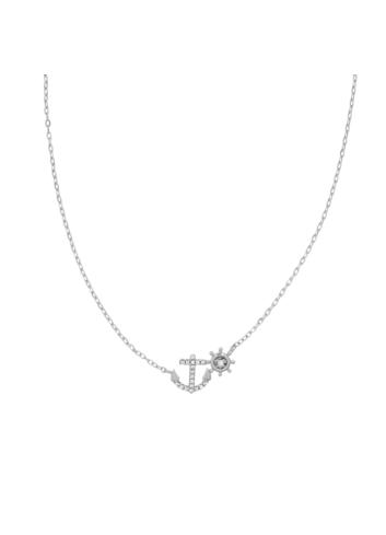 10005862 Naszyjnik srebrny pr.925 z cyrkoniami