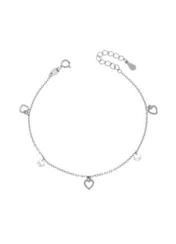10005512 Bransoletka srebrna pr.925 z cyrkoniami