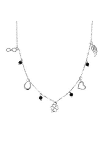 10008667 Naszyjnik srebrny pr.925 z cyrkoniami