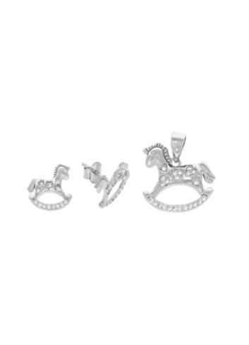 10005901 Komplet srebrny pr.925 z cyrkoniami