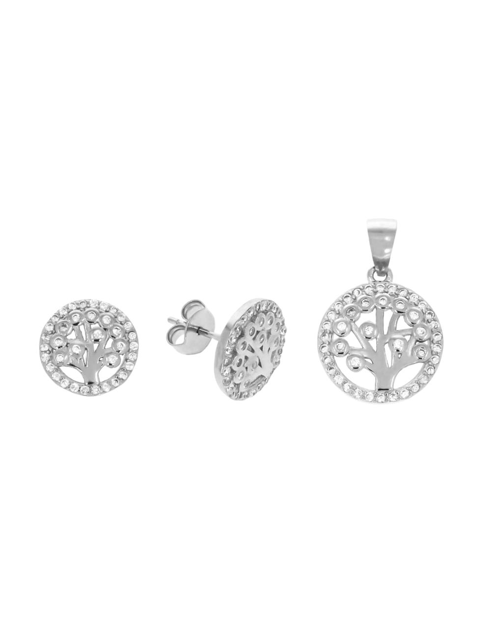 10009392 Komplet srebrny pr.925 z cyrkoniami