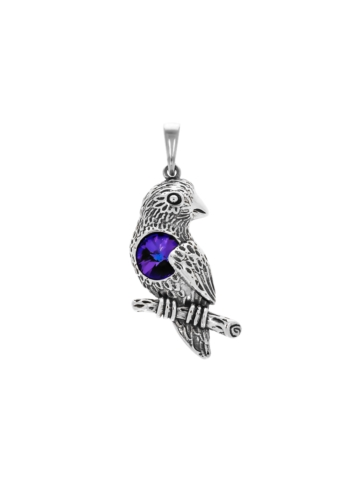 10009076 Wisiorek srebrny pr.925 z kryształem
