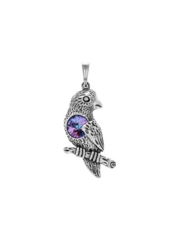 10009077 Wisiorek srebrny pr.925 z kryształem