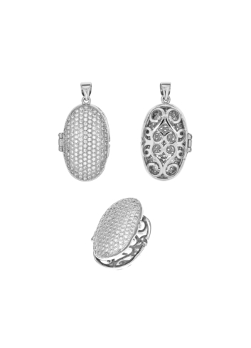 10000817 Wisiorek srebrny pr.925 z cyrkoniami