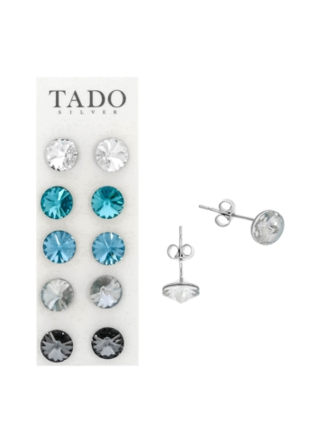 10003526 Kolczyki srebrne pr.925 z kryształami