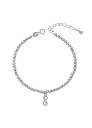 10011050 Bransoletka srebrna pr.925 z cyrkoniami