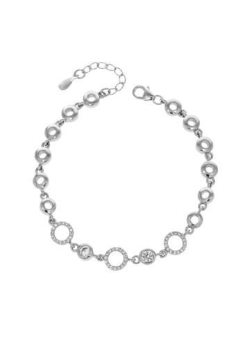 10009276 Bransoletka srebrna pr.925 z cyrkoniami