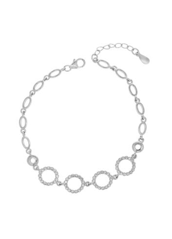 10009266 Bransoletka srebrna pr.925 z cyrkoniami