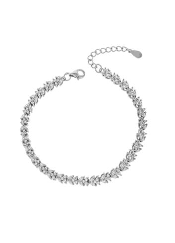 10010646 Bransoletka srebrna pr.925 z cyrkoniami