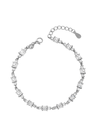 10010773  Bransoletka srebrna pr.925 z cyrkoniami