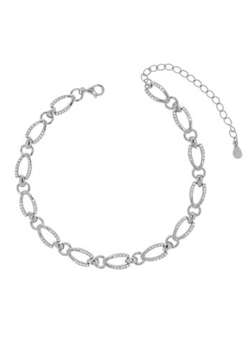 10010836 Bransoletka srebrna pr.925 z cyrkoniami