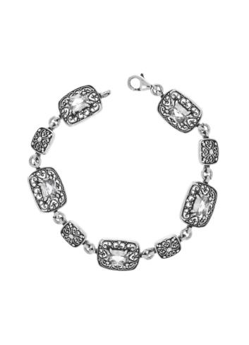 10010359 Bransoletka srebrna pr.925 z cyrkoniami