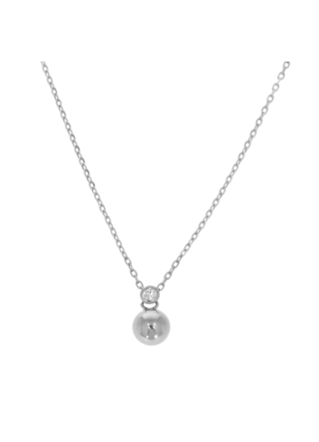 10011033 Naszyjnik srebrny pr.925 z cyrkoniami
