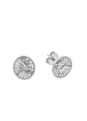 10010387 Kolczyki srebrne pr.925 z cyrkoniami
