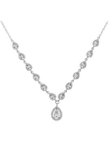 10003050 Naszyjnik srebrny pr.925 z cyrkoniami