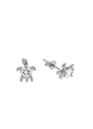 10011394 Kolczyki srebrne pr.925 z cyrkoniami