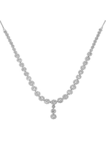 10010154  Naszyjnik srebrna pr.925 z cyrkoniami