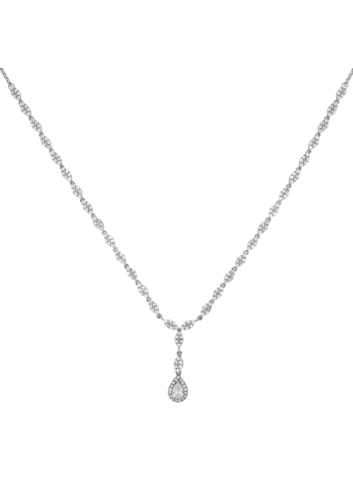 10010156 Naszyjnik srebrny pr.925 z cyrkoniami
