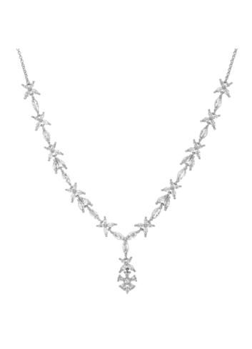 10010157 Naszyjnik srebrny pr.925 z cyrkoniami