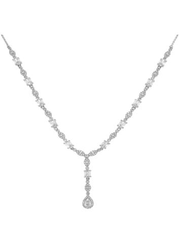 10010150 Naszyjnik srebrny pr.925 z cyrkoniami