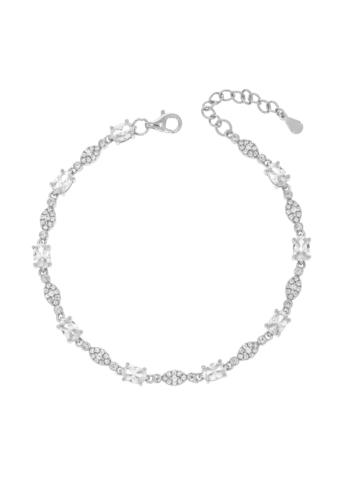 10010151 Bransoletka srebrna pr.925 z cyrkoniami