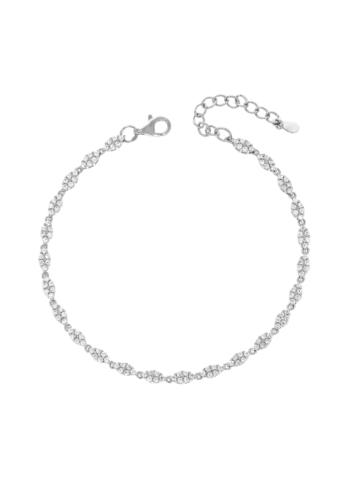10009422 Bransoletka srebrna pr.925 z cyrkoniami