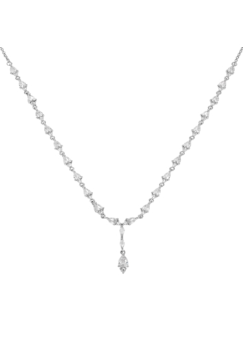 10011184 Naszyjnik srebrny pr.925 z cyrkoniami