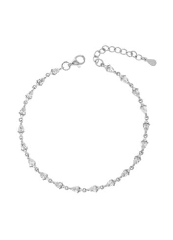 10011185 Bransoletka srebrna pr.925 z cyrkoniami
