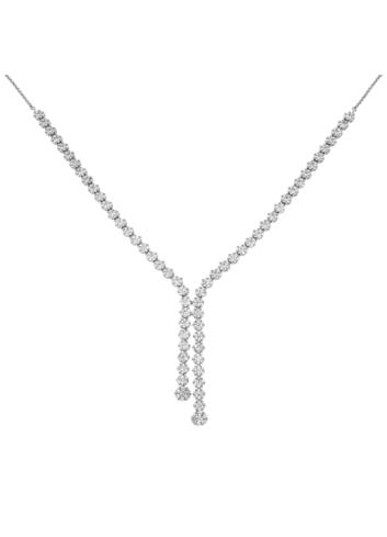 10011193 Naszyjnik srebrny pr.925 z cyrkoniami