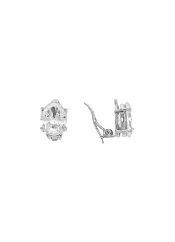 10007351 Klipsy srebrne pr.925 z cyrkoniami
