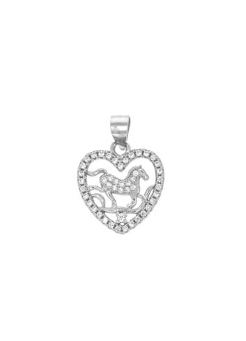 10009853 Wisiorek srebrny pr.925 z cyrkoniami