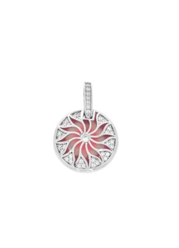 10011658 Wisiorek srebrny pr.925 emaliowany z cyrkoniami