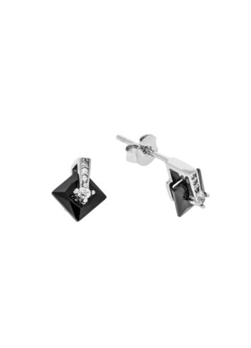 10011737 Kolczyki srebrne pr.925 z cyrkoniami