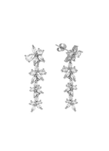 10011375 Kolczyki srebrne pr.925 z cyrkoniami