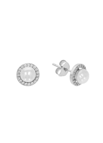 10011829 Kolczyki srebrne pr.925 z cyrkoniami