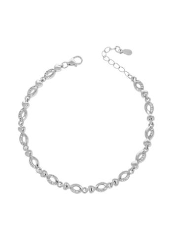10011850 Bransoletka srebrna pr.925 z cyrkoniami