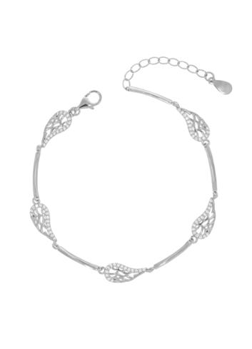 10011525 Bransoletka srebrna pr.925 z cyrkoniami
