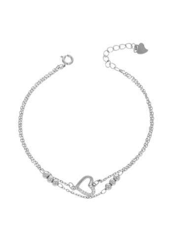 10011851  Bransoletka srebrna pr.925 z cyrkoniami