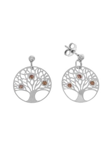10011151 Kolczyki srebrne pr.925 z kryształami