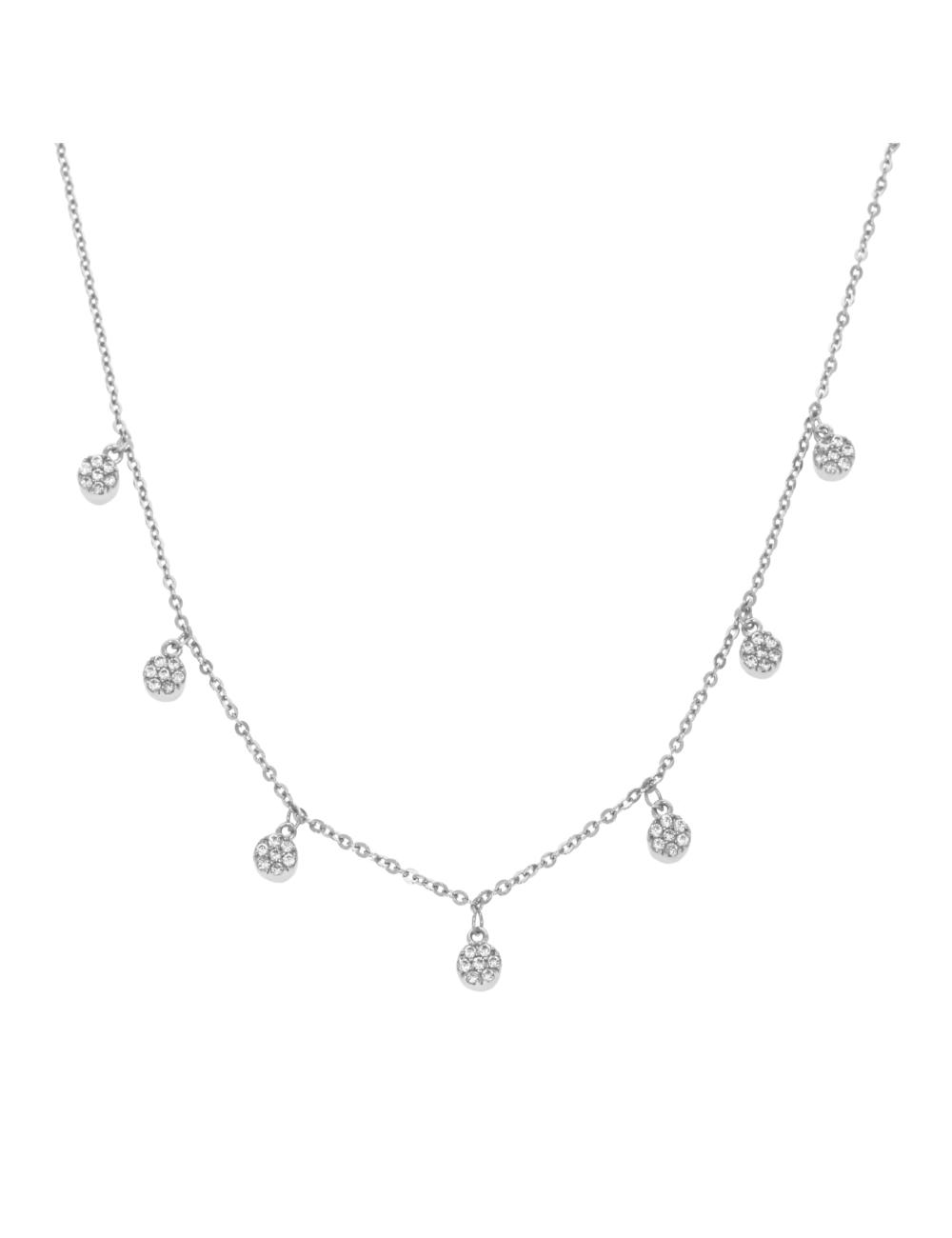 10012322 Naszyjnik srebrny pr.925 z cyrkoniami