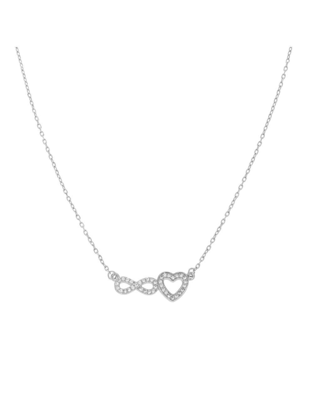 10012318 Naszyjnik srebrny pr.925 z cyrkoniami