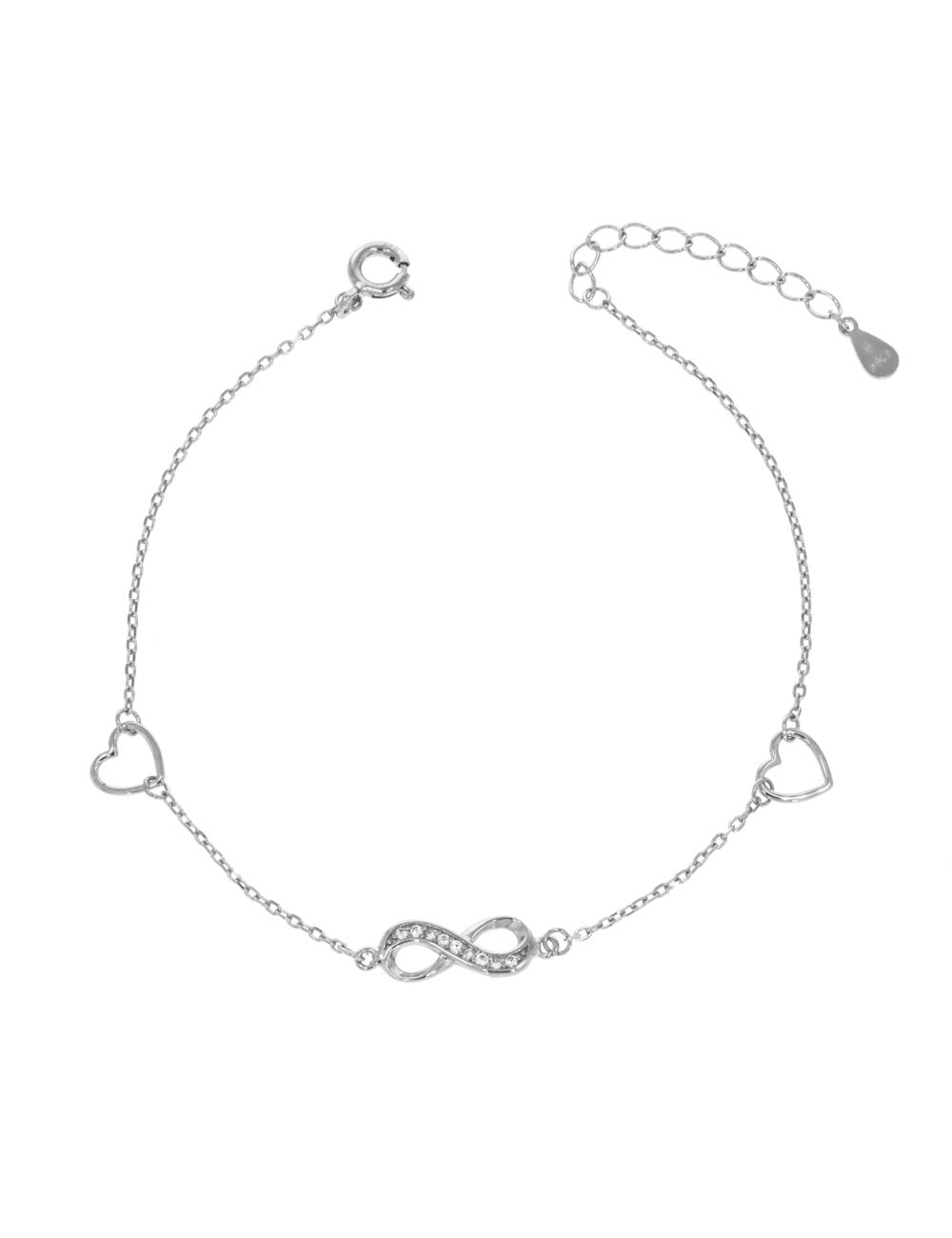 10012333 Bransoletka srebrna pr.925 z cyrkoniami